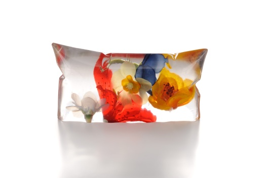 "Catalina Brenes - ""Portable Garden"", 2011. Brooch. Resin and plastic sculpture. Photo courtesy of the artist."
