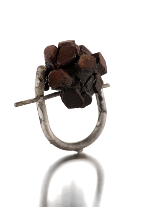 Catalina Brenes - MORFOSI SERIES RING, 2011. Silver and shibuichi. Photo courtesy of the artist