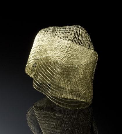Kazumi Nagano - Bracelet. Gold, silver, nylon. Photo from http://pinterest.com