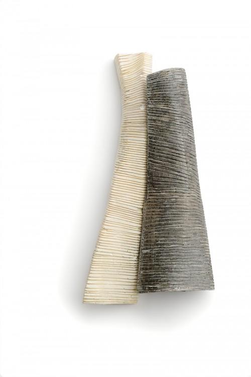 Anastasia Kandaraki - Brooch. Bone, acrylic, silver. Photo from http://www.artjewelryforum.org