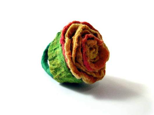 Ana Hagopian - Ring. Paper, color. Photo from http://www.anahagopian.com