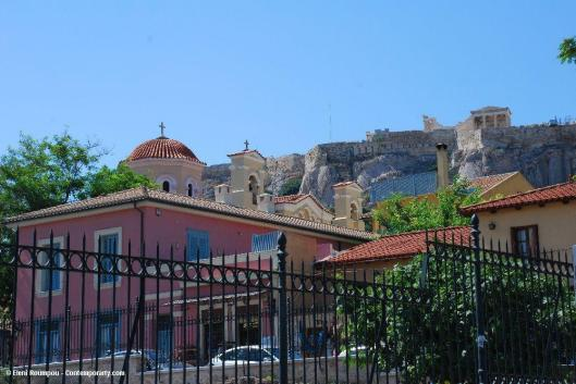 Quick look at the Acropolis. Still there, still Greek. Have to move on – Photo: Eleni Roumpou