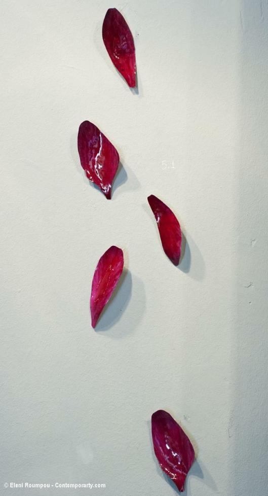Evi Borbadonaki - (2012). Brooches. Nickel silver, resin, paint. Photo by Eleni Roumpou