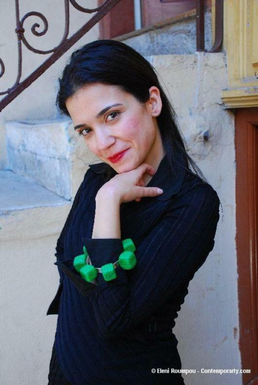 Maria Derebe with ring by Anna Pervolaraki - Photo by Eleni Roumpou