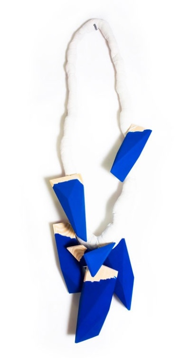 Tobias Alm - Summer series - Necklace. Cotton, wood, paint. Picture from http://www.tobiasalm.com/projects/summerseries1.html