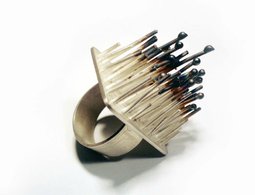 "Aliki Stroumpouli - ""Spiky"" (2007). Ring. Silver."