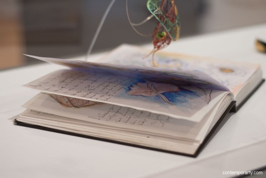 Akis Goumas sketchbook. Photograph by Eleni Roumpou