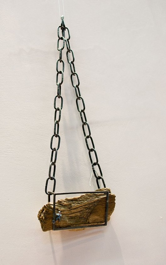 Valentina Caporali - Necklace. Wood, iron. Photo by Eleni Roumpou