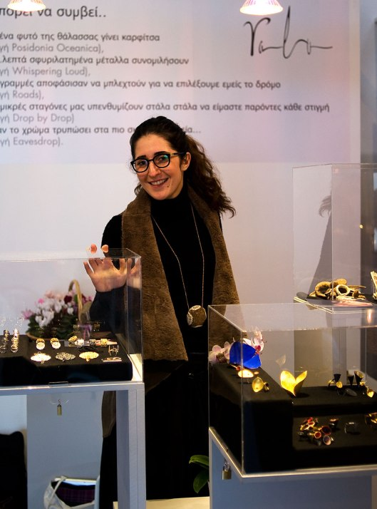 Rallou Katsari at her stand. Photo by Eleni Roumpou