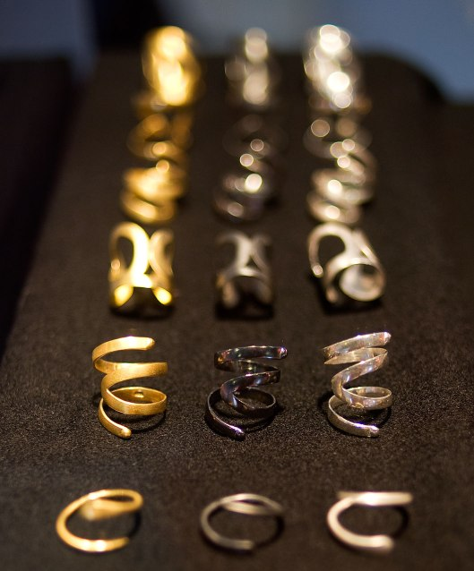 Rings by Rallou Katsari. Photo by Eleni Roumpou