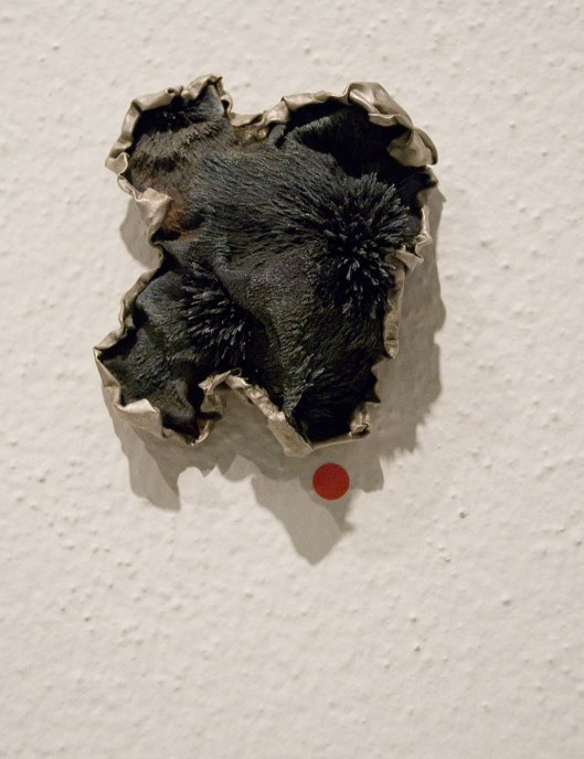 Ying-Hsun (Zita) Hsu - Brooch (2013). Brass, iron magnetized, epoxy resin. Photo by Eleni Roumpou