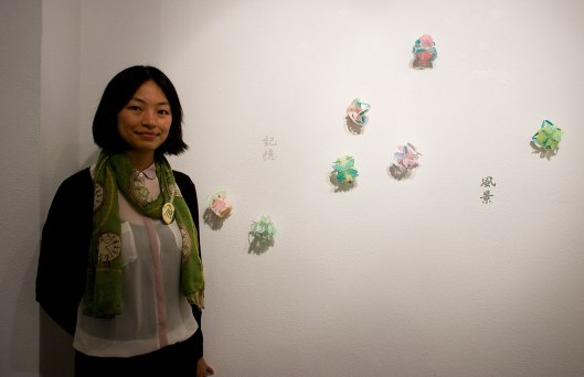 Wen-Miao Yeh at the Bench 886 exhibition. Photo by Eleni Roumpou