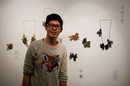 Heng Lee at the Bench 886 exhibition. Photo by Eleni Roumpou