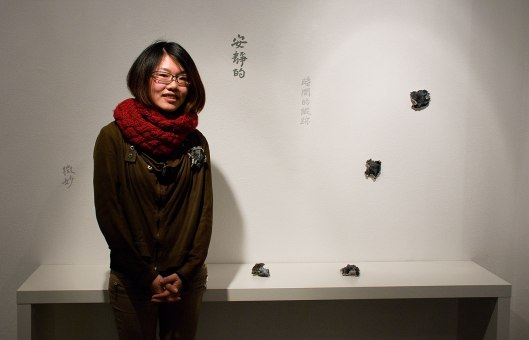 Ying-Hsun (Zita) Hsu at the Bench 886 exhibition. Photo by Eleni Roumpou