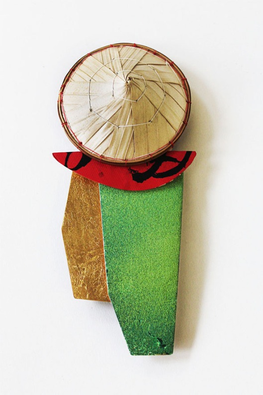 Han-Chieh (Joy) Chuang - Red Brick brooch. Photo courtesy of the artist.